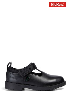 Kickers® Black Lachly T-Bar Shoes