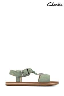 Clarks Light Green Finch Summer T Sandals