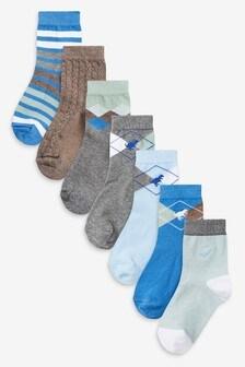 Набор из 7 пар носков с высоким содержанием хлопка (Младшего возраста)