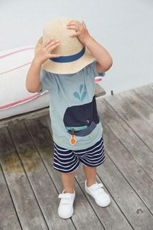 Комплект: футболка и шорты на молнии Whale Interactive (3 мес.-7 лет)