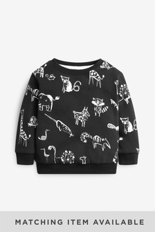 All Over Print Crew Neck Sweater (3mths-7yrs)