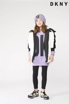 فستان بقعبة شعار كبير ليلكي من DKNY