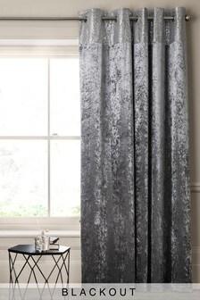 Single Velvet Sequin Eyelet Curtain