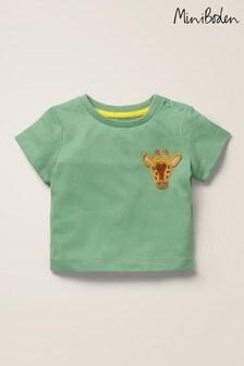 Boden Green Crochet Animal T-Shirt
