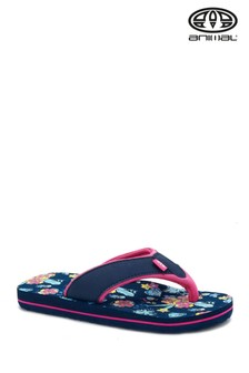 Animal Blue Swish All Over Print Flip Flops