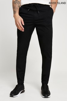 River Island Black Pull-On Chinos