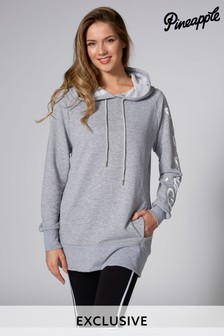 Pineapple Exclusive Langes Loopback-Kapuzensweatshirt