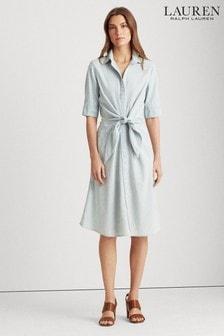 Lauren Ralph Lauren® Soft Denim Tie Waist Coyne Dress