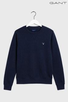 GANT Original Blue Crew Neck Sweater
