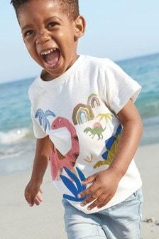 短袖貼花恐龍T恤 (3個月至7歲)