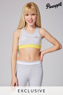 Pineapple Exclusive Piping Crop Top