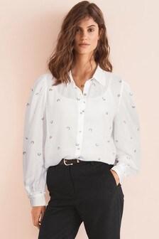 Hemd mit rundem Kragen