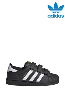 adidas Originals Black/White Superstar Junior Trainers