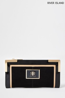 River Island Black Colourblock Metal Corner Bag