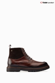 Base London® Brown Drummond Chunky Biker Boots