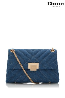 Dune London Blue Dorchester Small Quilted Shoulder Bag