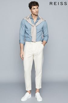 Reiss Blue Draper Chambray Shirt