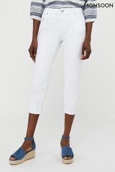 Monsoon Idabella Capri Organic Cotton Denim Jeans