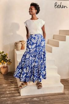 Boden 藍色 Lorna層次長裙