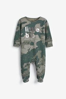 חליפת שינה עם כיתוב Little Bro (0 חודשים עד גיל 2)