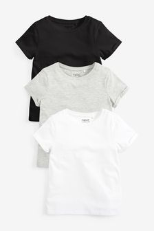 Набор из 3 однотонных футболок (3-16 лет)