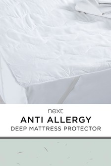 Anti Allergy Deep Mattress Protector Treated With Micro-Fresh