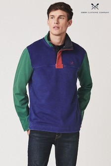 Crew Clothing Blue Colourblock Padstow Pique Sweater