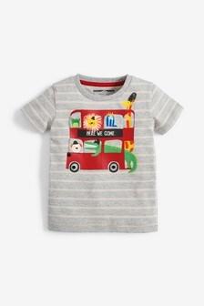Interaktívne tričko s autobusom (3 mes. – 7 rok.)