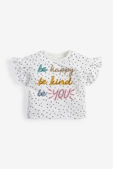 Slogan Short Sleeve T-Shirt (3mths-7yrs)