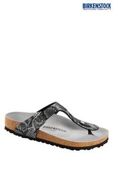 Czarne sandały Birkenstock® Python Gizeh