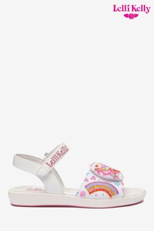 Lelli Kelly White Fantasy Dorothy Sandals
