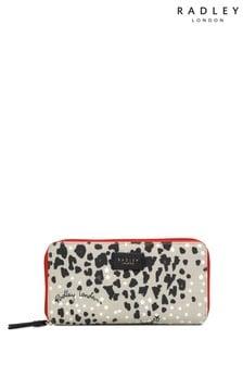 Radley London Große Matinee-Börse aus Öltuch mit Reißverschluss in Leoparden-Optik