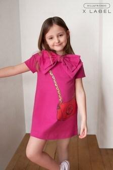 Mix/Hill & Friends Kleid mit Handtaschenprint