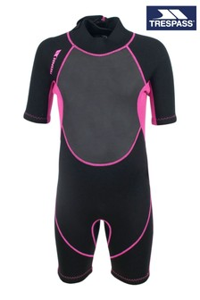 Trespass Black Scubadive - Kids 3mm Short Wetsuit