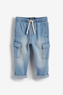 Denim Cargo Trousers (3mths-7yrs)