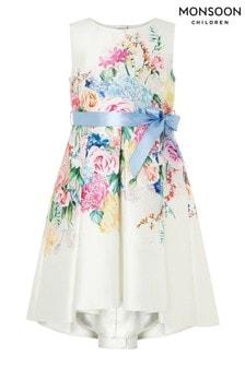 Monsoon Asymmetrisches Kleid mit Blumenmuster, Natur