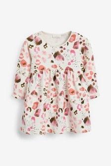 Трикотажное платье с леопардовым принтом (0 мес. - 2 лет)