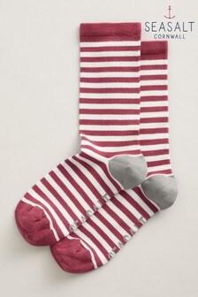 Seasalt Pink Womens Sailor Socks