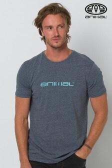 Animal Indigo Blue Marl Marrly Graphic T-Shirt