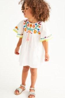 Платье-туника из органического хлопка с вышивкой (3 мес.-7 лет)