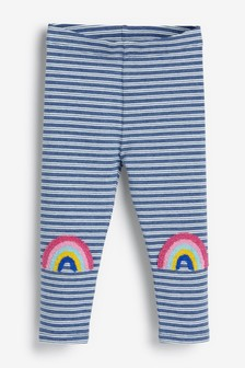 Леггинсы с радугами на коленях (3 мес.-7 лет)