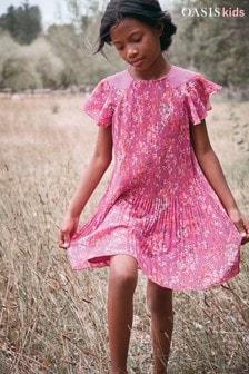 Oasis Pleat Floral Dress