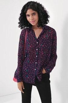 Mix/Blouse Black Heart Print Shirt