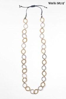 White Stuff Cord & Circle Necklace