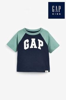 Modré tričko s logom Gap