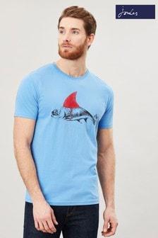 Joules Blue Flynn Graphic Print Crew Neck T-Shirt