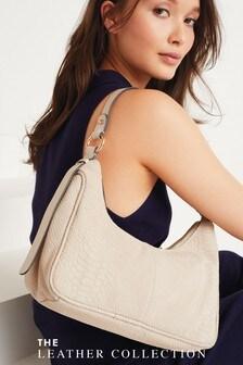 Leather 90's Style Shoulder Bag