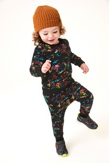 Rainbow Splat Crew Top And Joggers Set (3mths-7yrs)