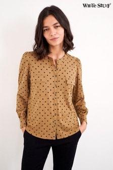 חולצתFenella בצבע חום שלWhite Stuff