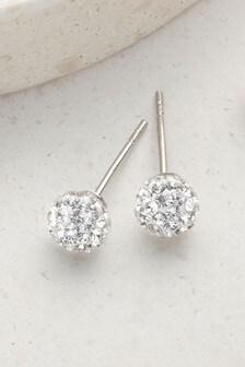 עגילים צמודים עם יהלומים מלאכותיים